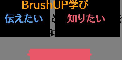 BrushUP学びは「伝えたい」と「知りたい」をつなぎます